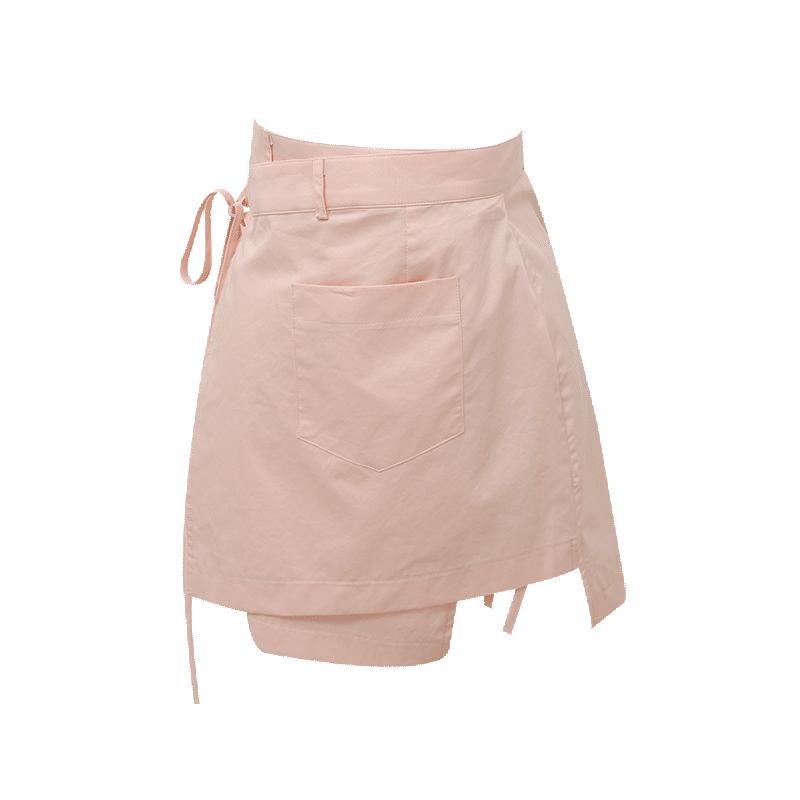 Asymmetric Mini Wrap Skirt
