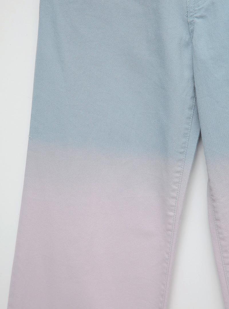 漸層雙色造型直筒長褲