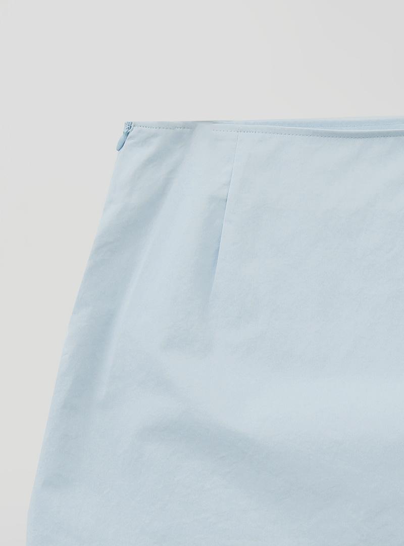 簡單夏季開衩襬A字短裙