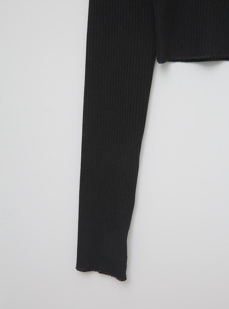 High Neck Half Zip T-Shirt