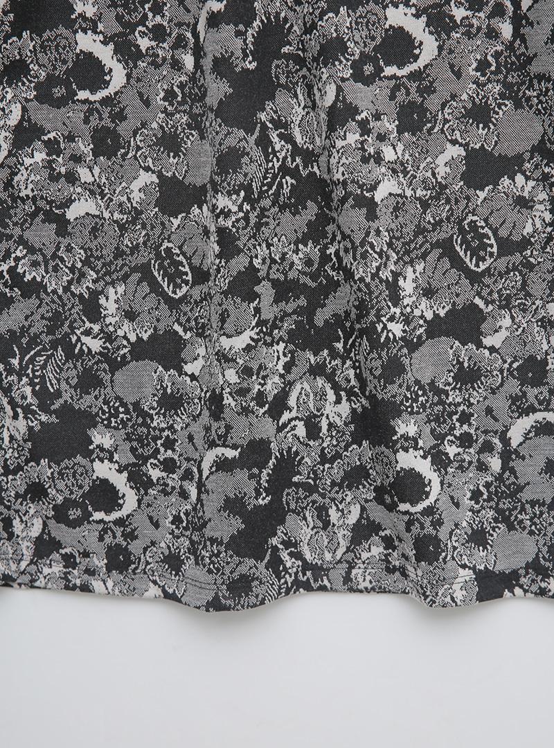 Elastic Waist Floral Long Skirt