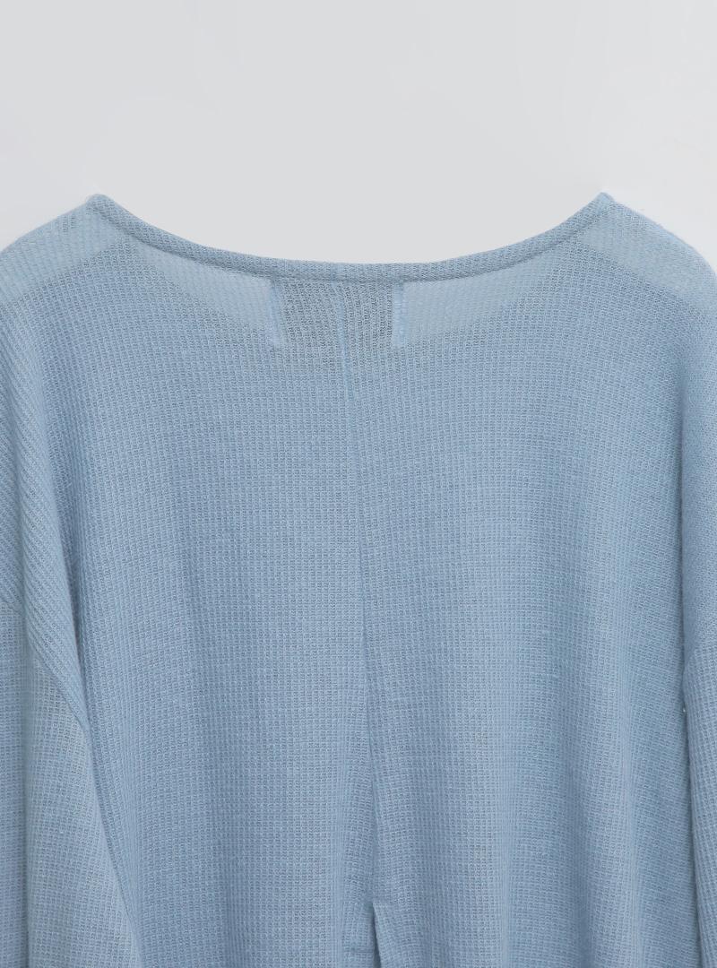 Back Slit Oversized Knit Top