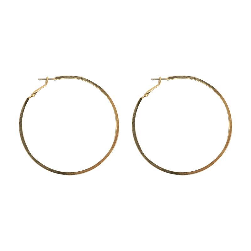 Omega Back Big Hoop Earrings