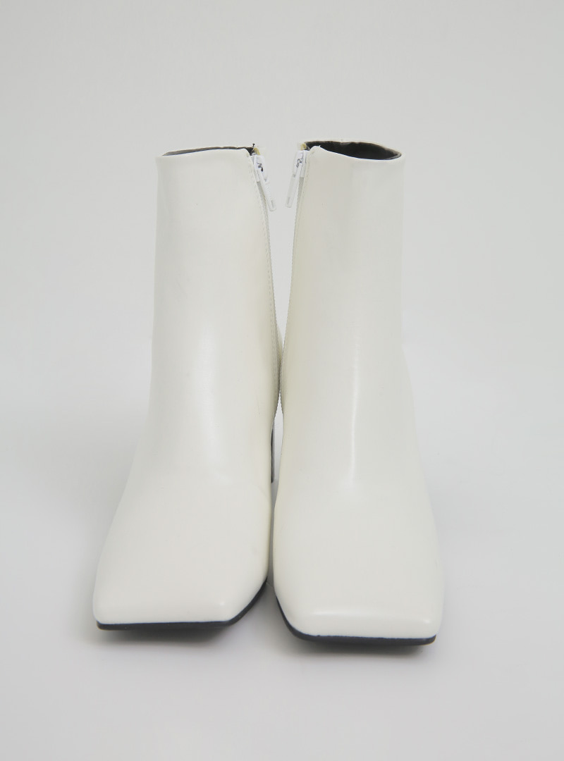 Square Toe Slim Heel Ankle Boots