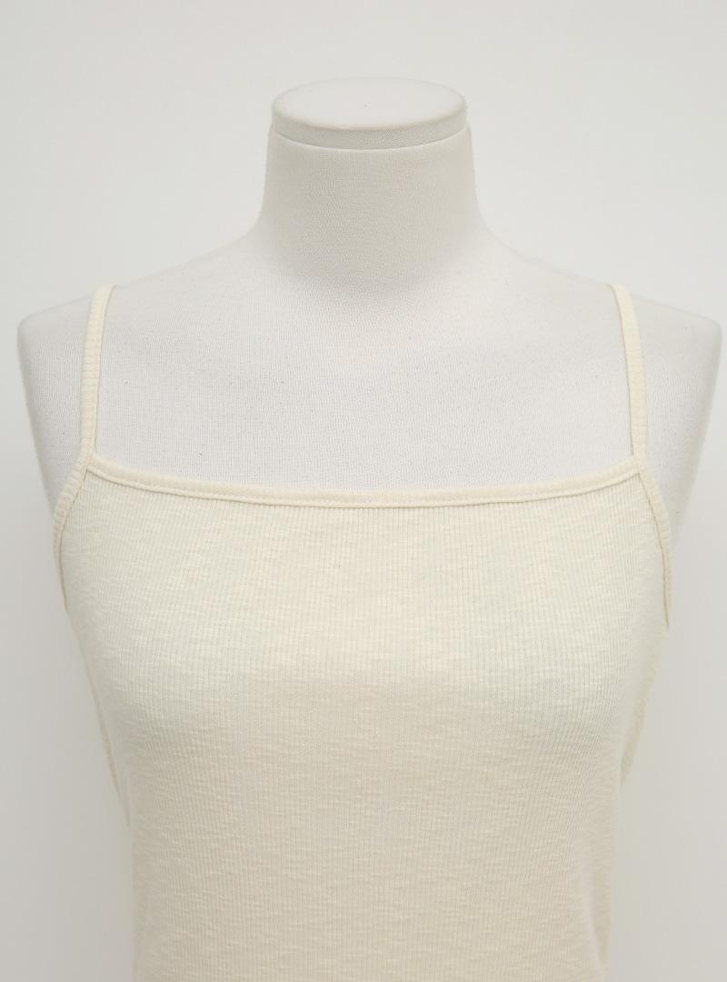 V-Neck Dress and Ribbed Camisole Set