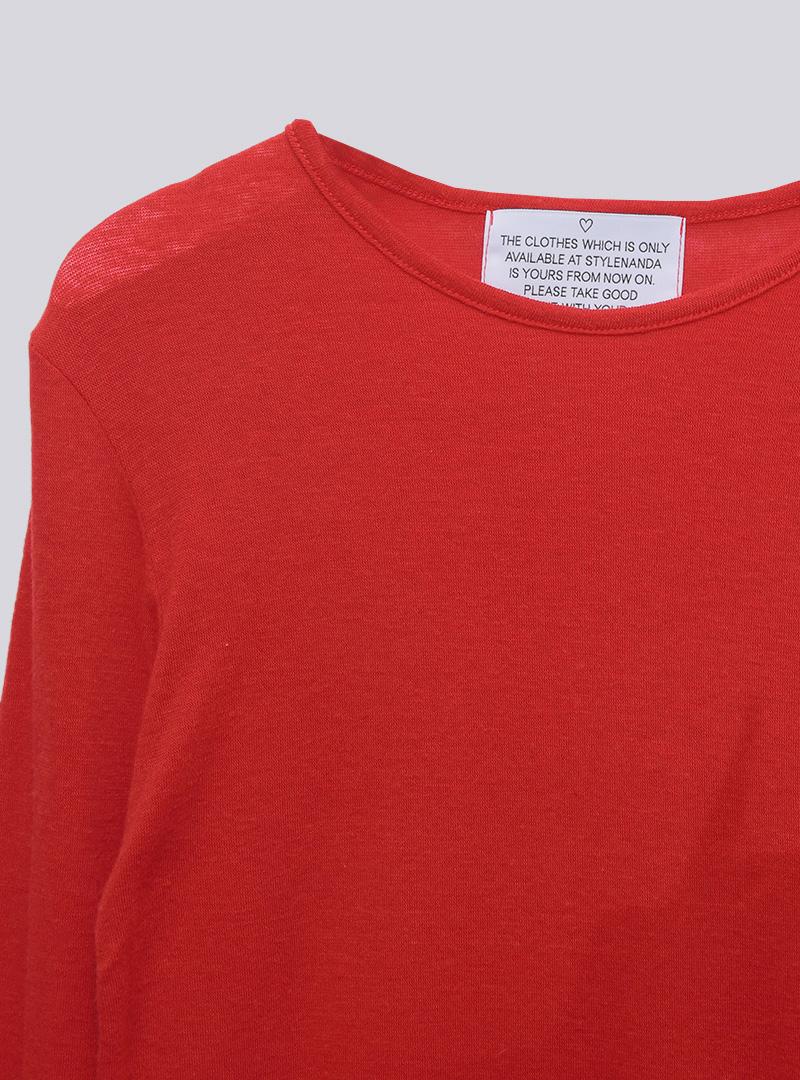 Basic Solid Color T-Shirt