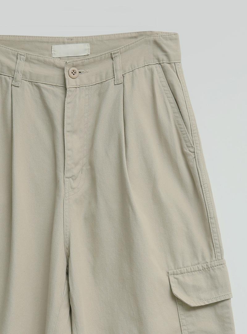 Front Pleat Loose Fit Cargo Pants
