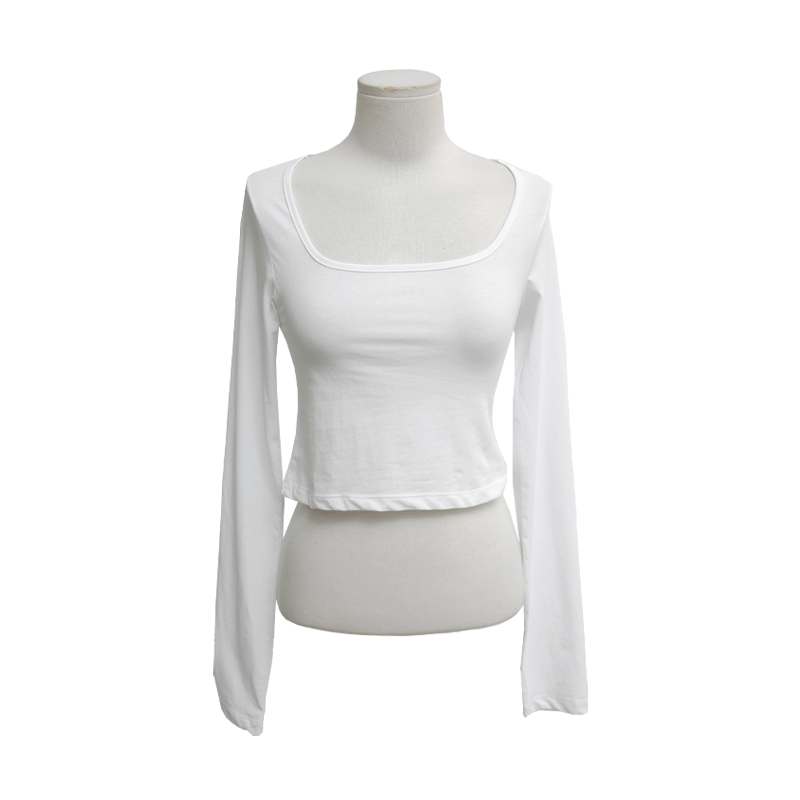 Square Neck Cropped T-Shirt