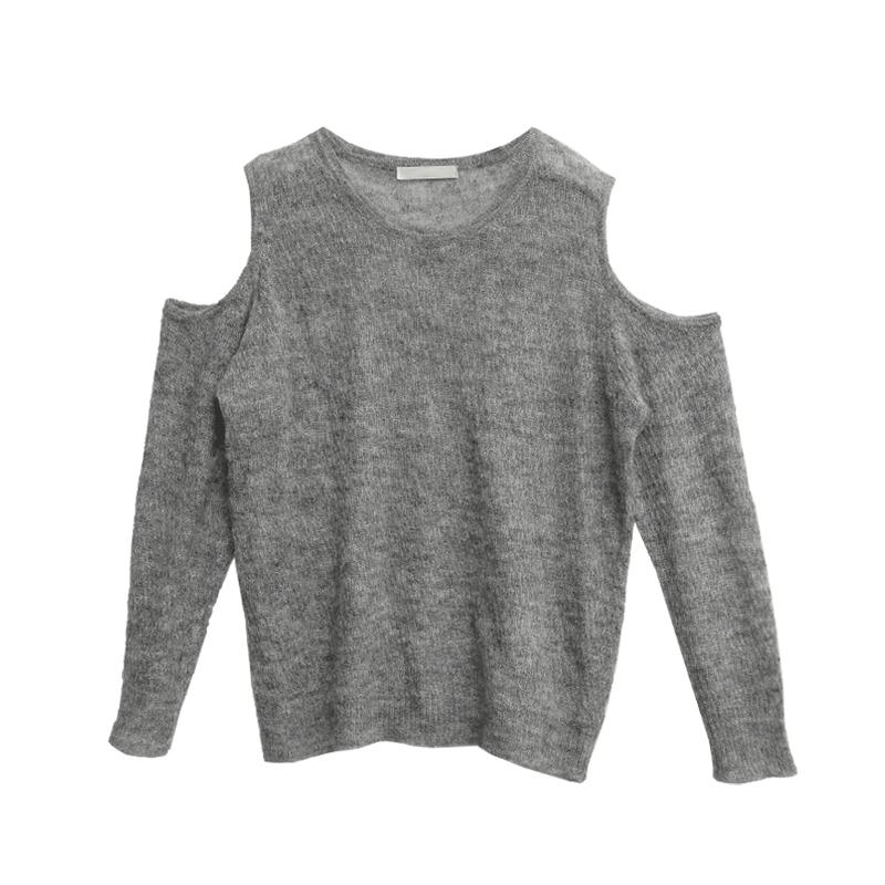 Cutout Sleeve Sheer Knit Top
