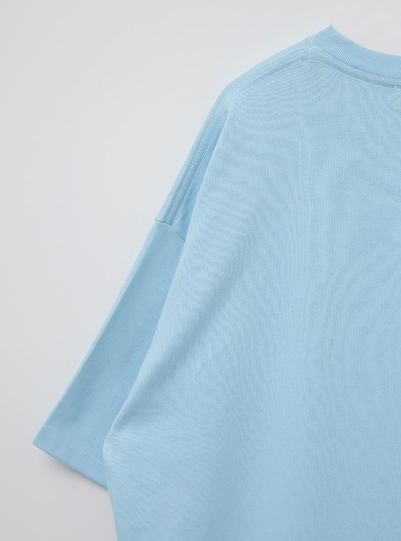 kkxx印字寬鬆落肩T恤
