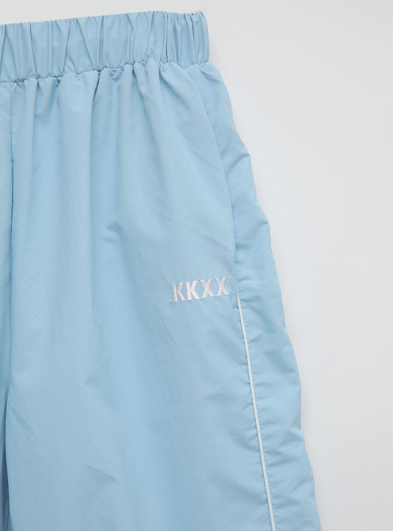 kkxx配色線條防風縮口褲