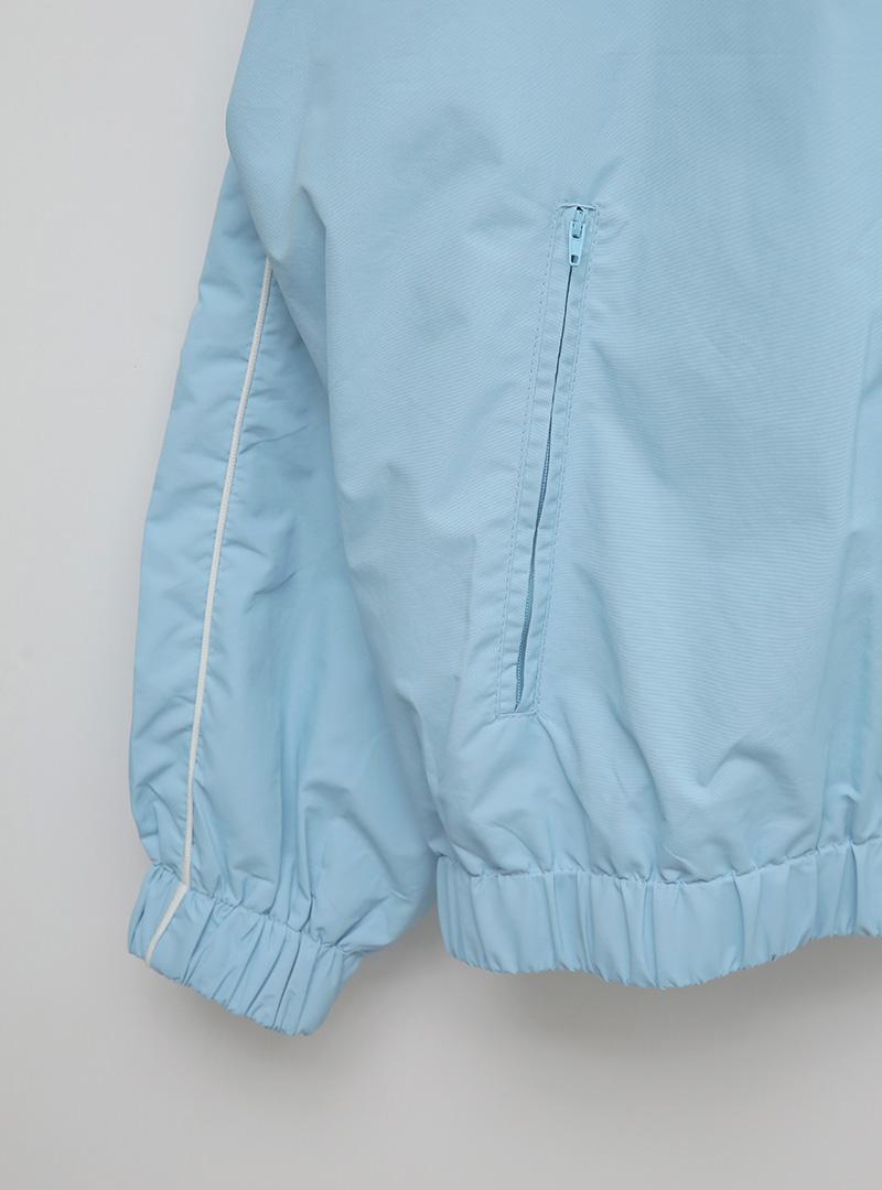 kkxx配色線條落肩防風外套