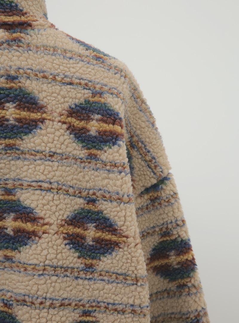 Patterned Sherpa Fleece Anorak
