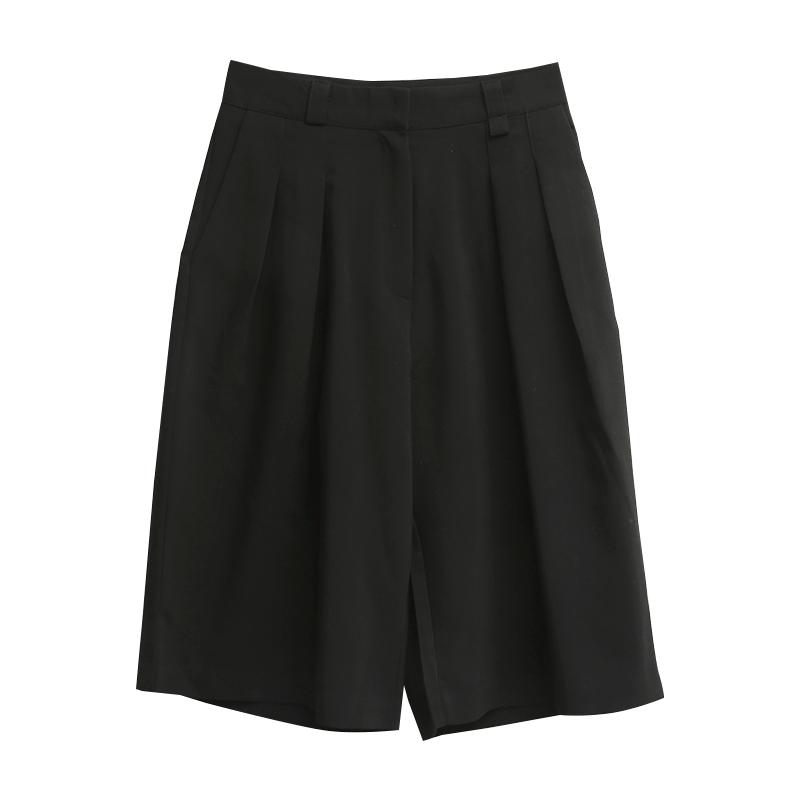 Double Pleat Knee Length Shorts
