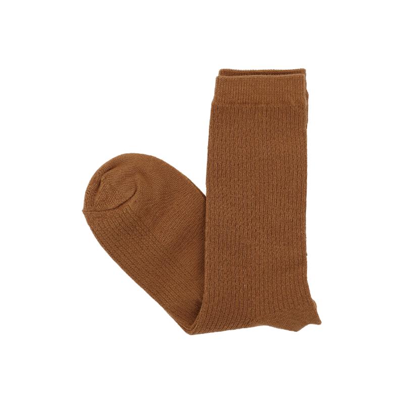 Ribbed Crew Length Socks