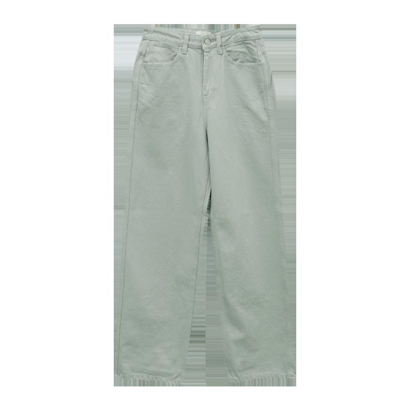 Straight Cut Long Cotton Pants