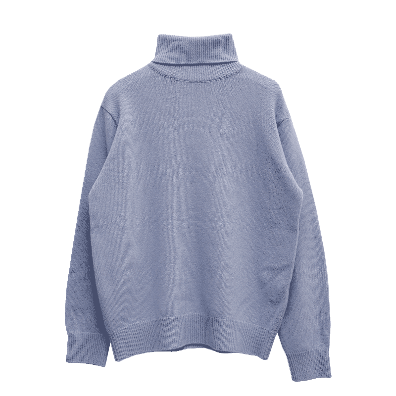 Relaxed Fit Turtleneck Knit Top