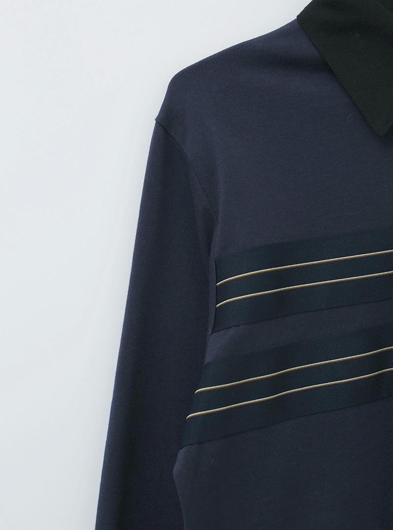 Stripe Trim Polo Shirt