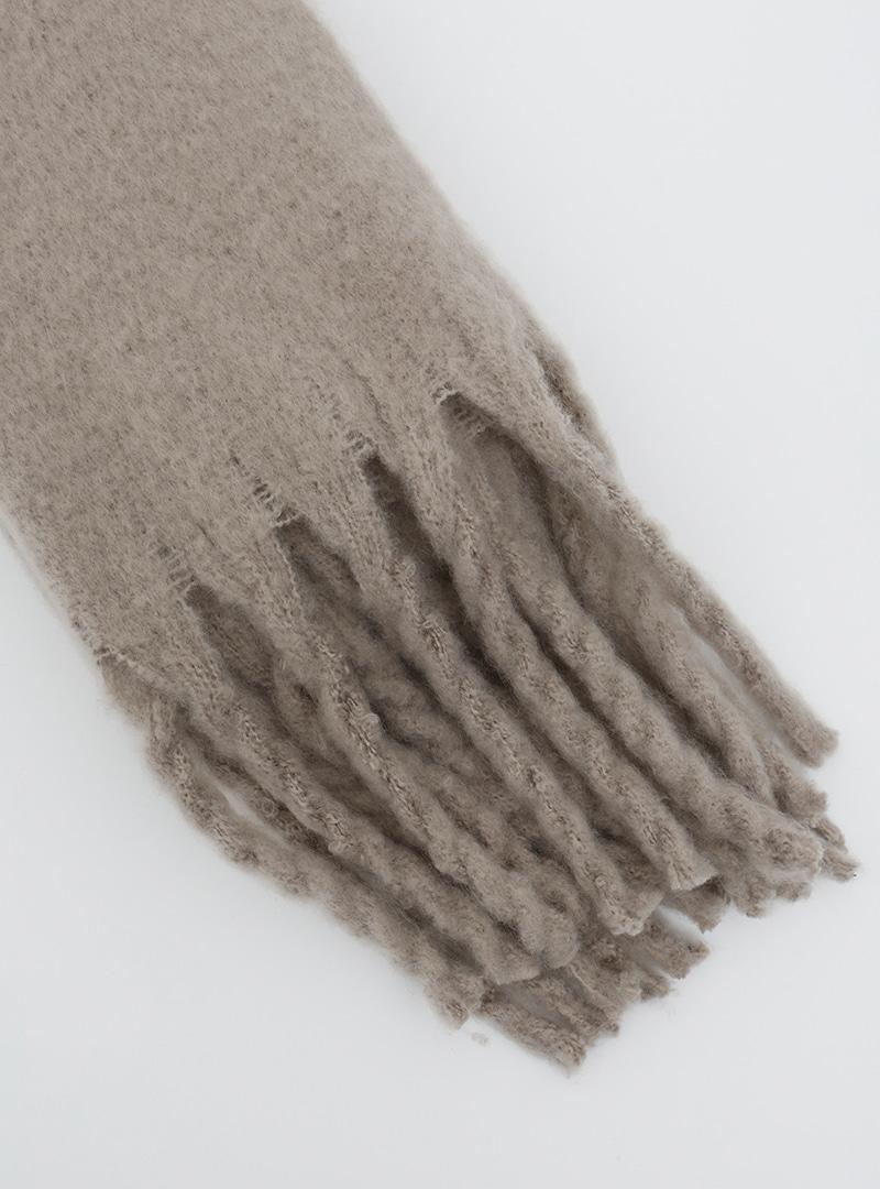可愛冬氛流蘇純色圍巾