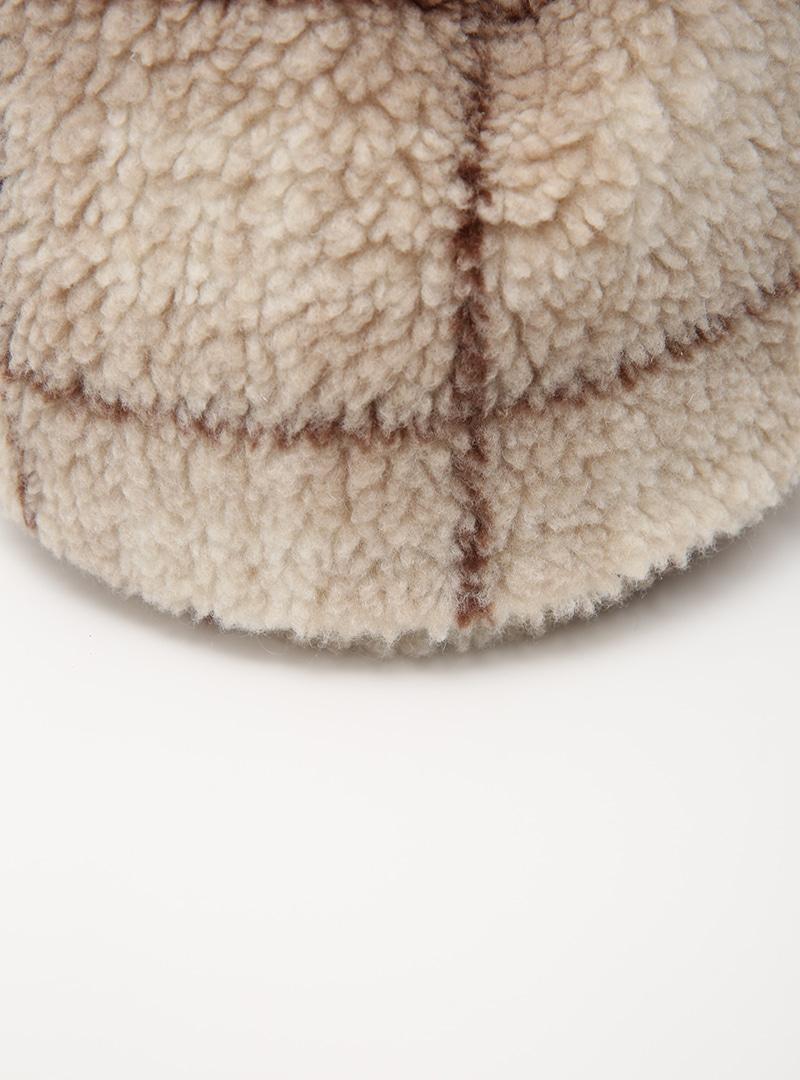 Sherpa Fleece Check Drawstring Bag