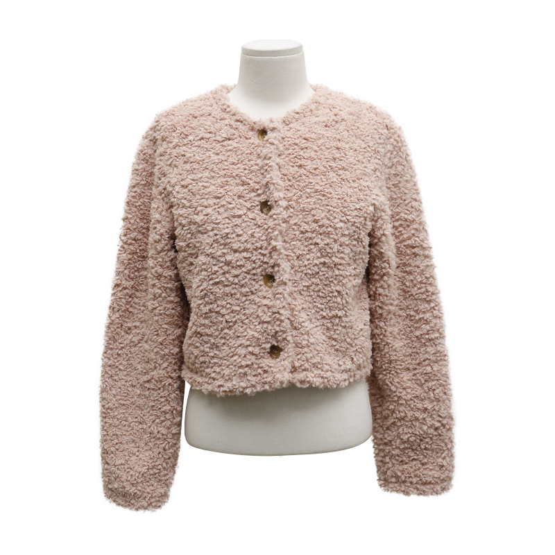 Button-Up Fuzzy Jacket