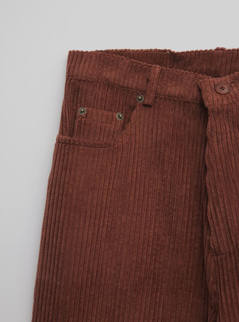 Straight Cut Loose Corduroy Pants