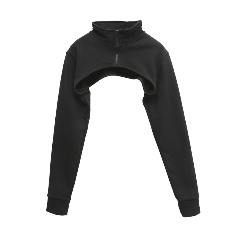 Zip-Up High Neck Layering Top