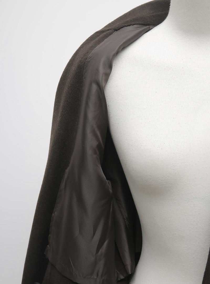 都會簡潔雙排釦長版大衣(手工製)