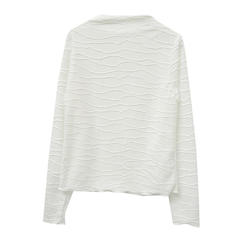 Lettuce Trim Textured T-Shirt