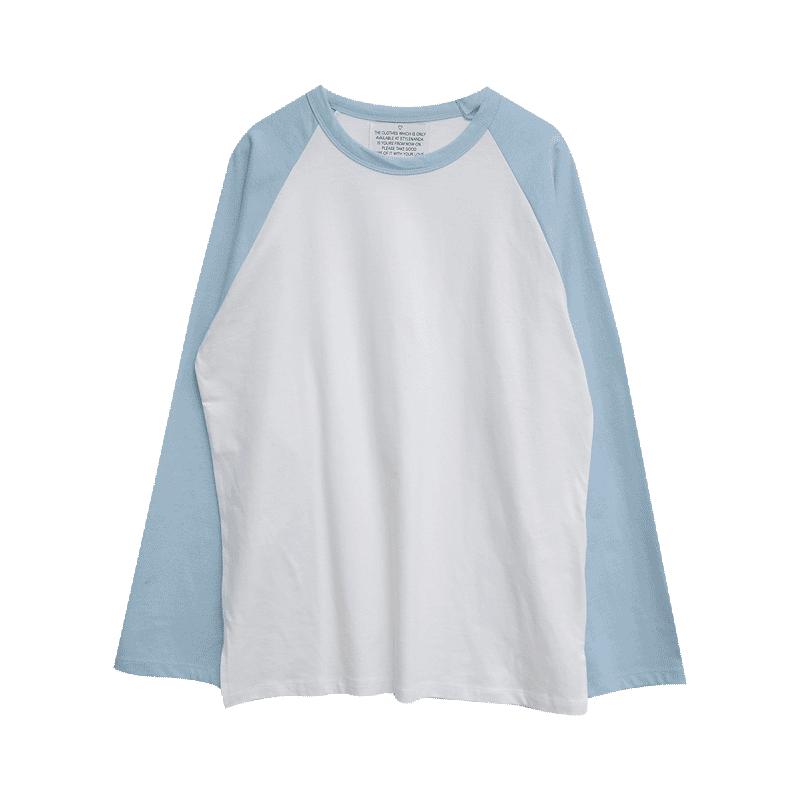 Crew Neck Contrast Raglan Sleeve T-Shirt