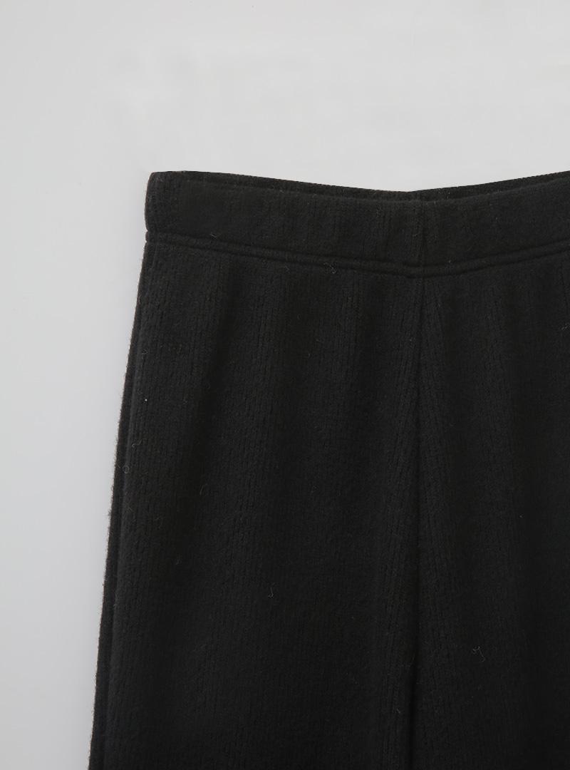 時髦品味喇叭羅紋針織褲