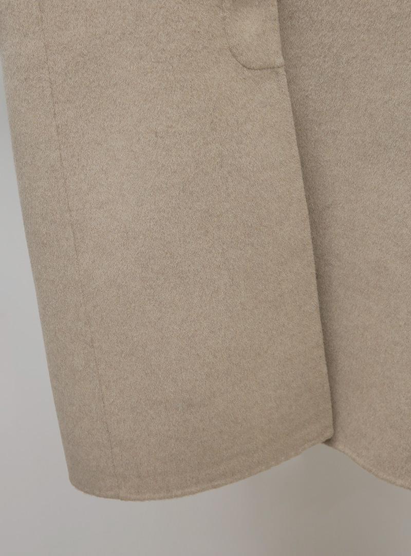 Pointed Collar Raglan Long Coat
