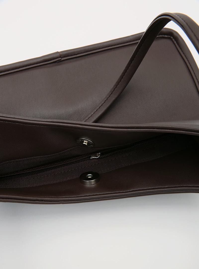 Twin Handle Faux Leather Shoulder Bag