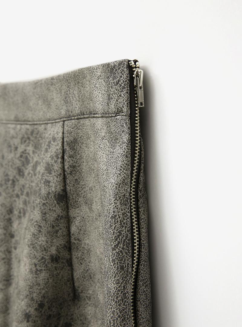 Cracked Pattern Mini Skirt