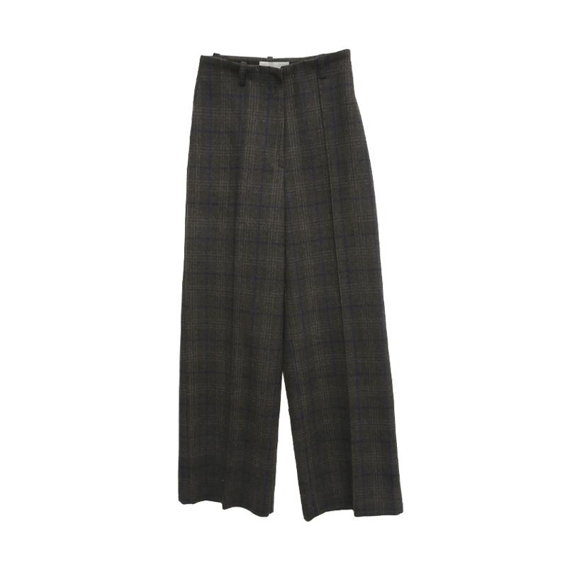 Check Pattern Woolen Slacks