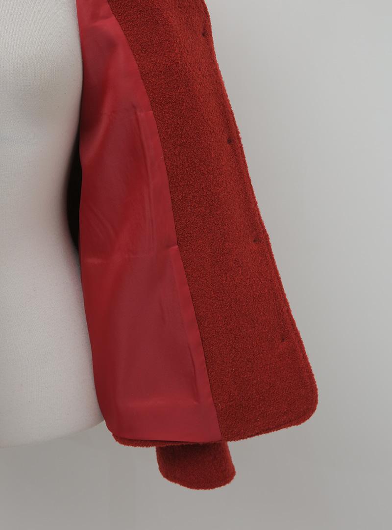Woolen V-Neck Jacket