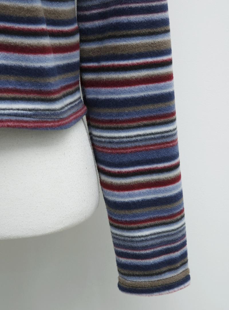 Barcode Stripe Button-Up Cardigan