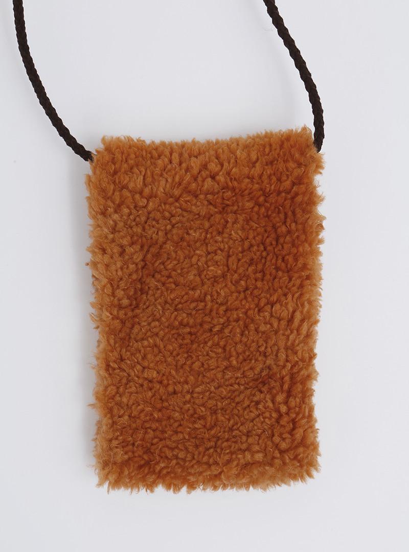 可愛絨毛迷你拉鍊側背包