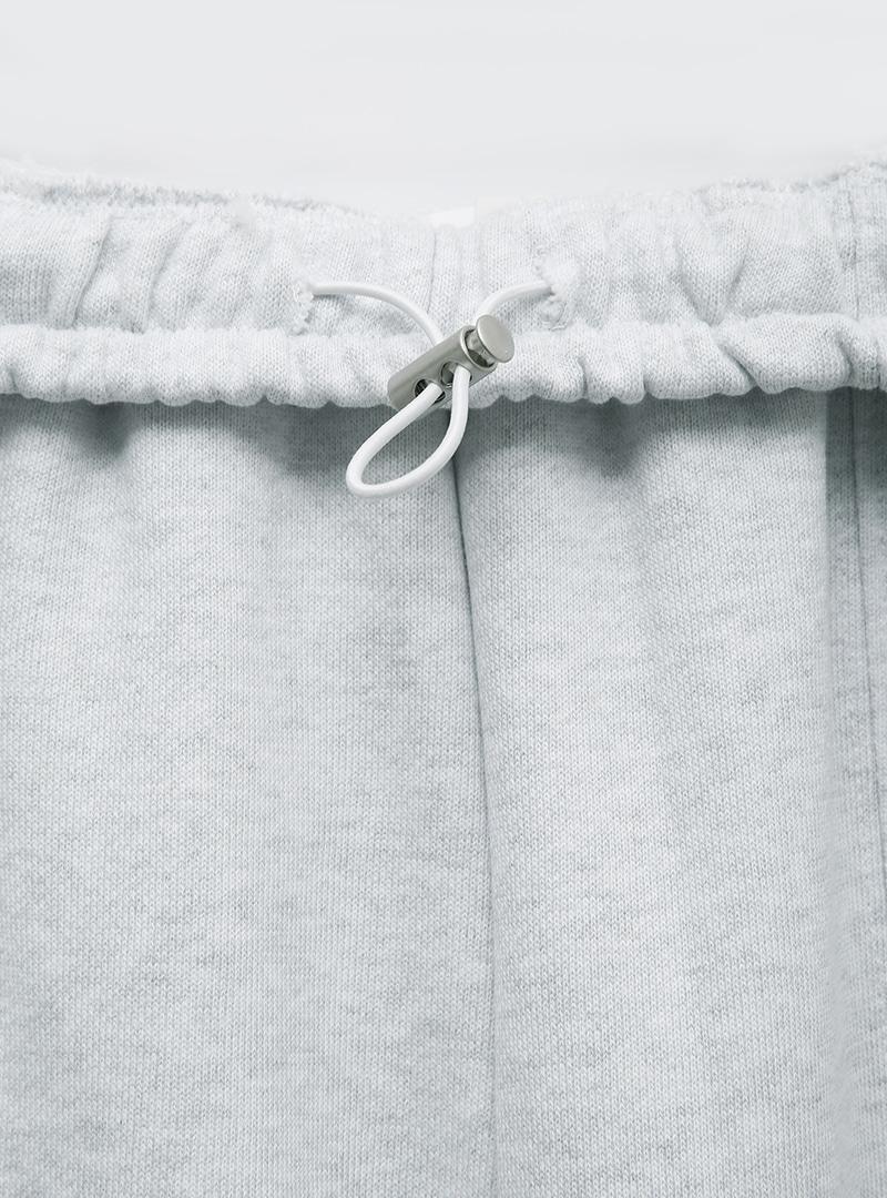 Cord-Locked Waist Cotton Jogger Pants