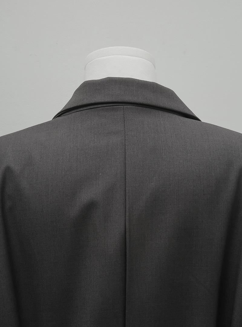 Buttoned Belt Notch Lapel Blazer