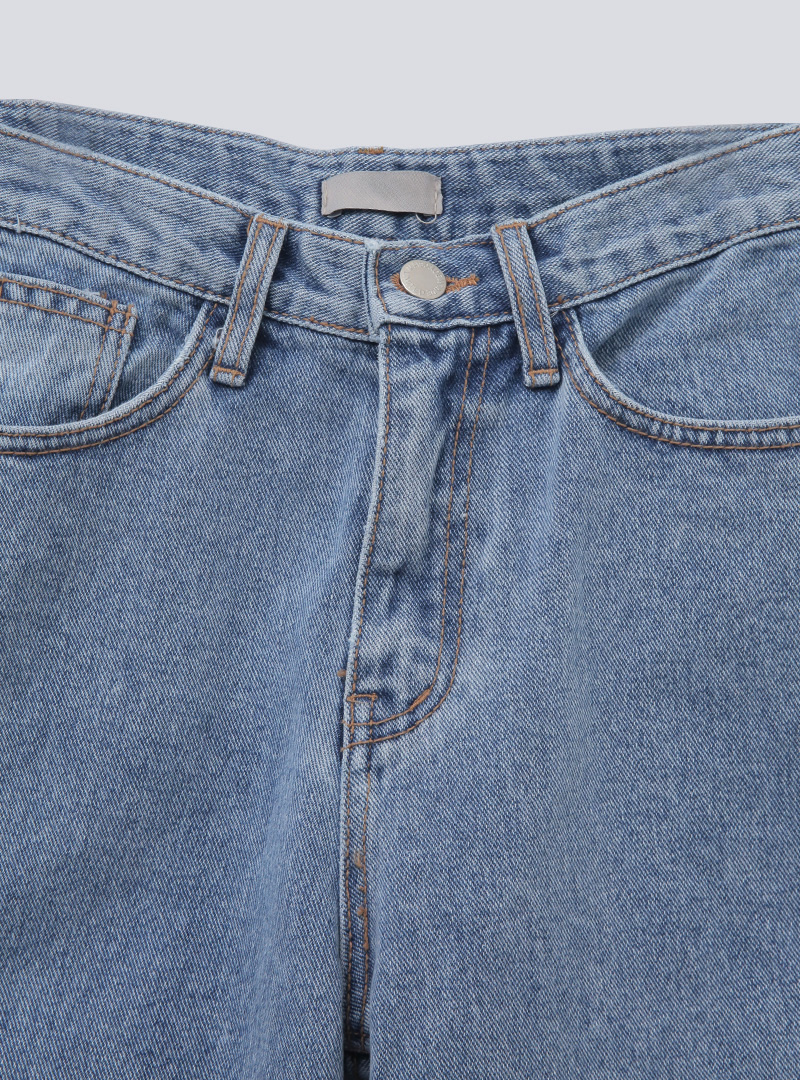 5-Pocket Loose Fit Straight-Cut Jeans