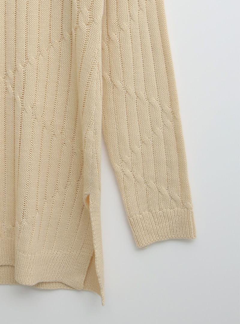 菱形紋路長版針織上衣