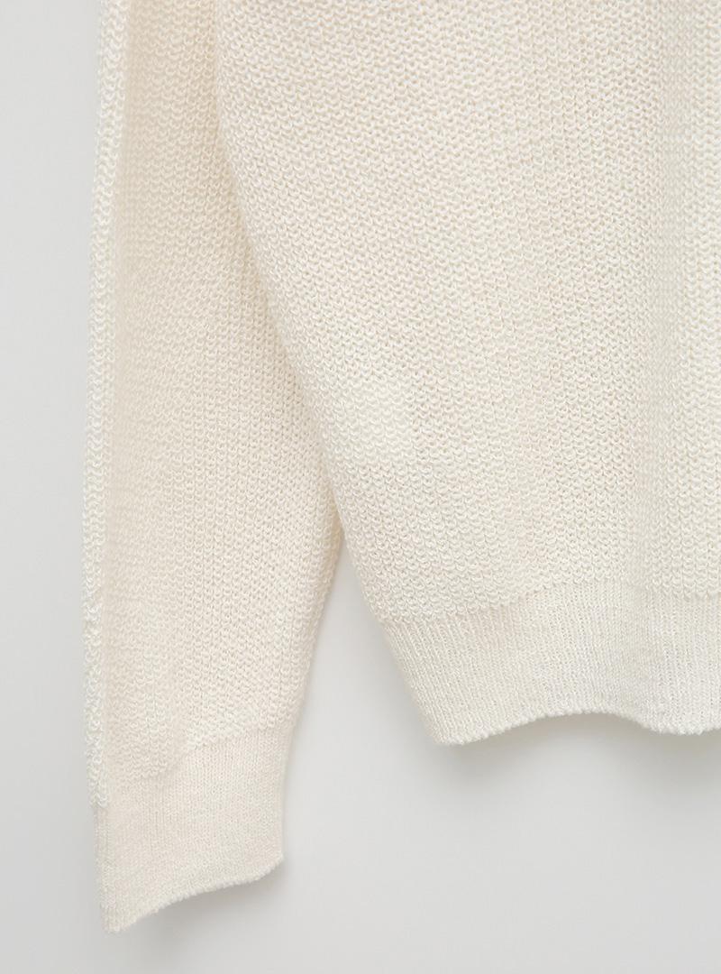 Gradient Round Neck Knit Top
