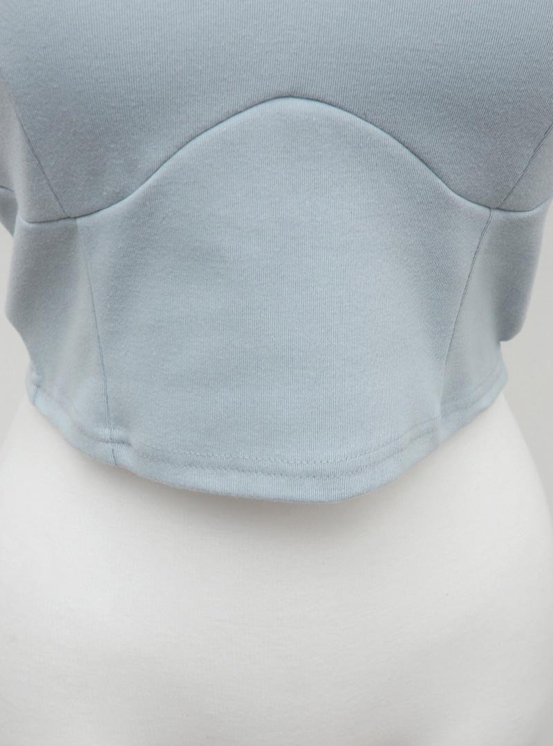 텐션피트라인 크롭슬리브리스 (+bra cap)