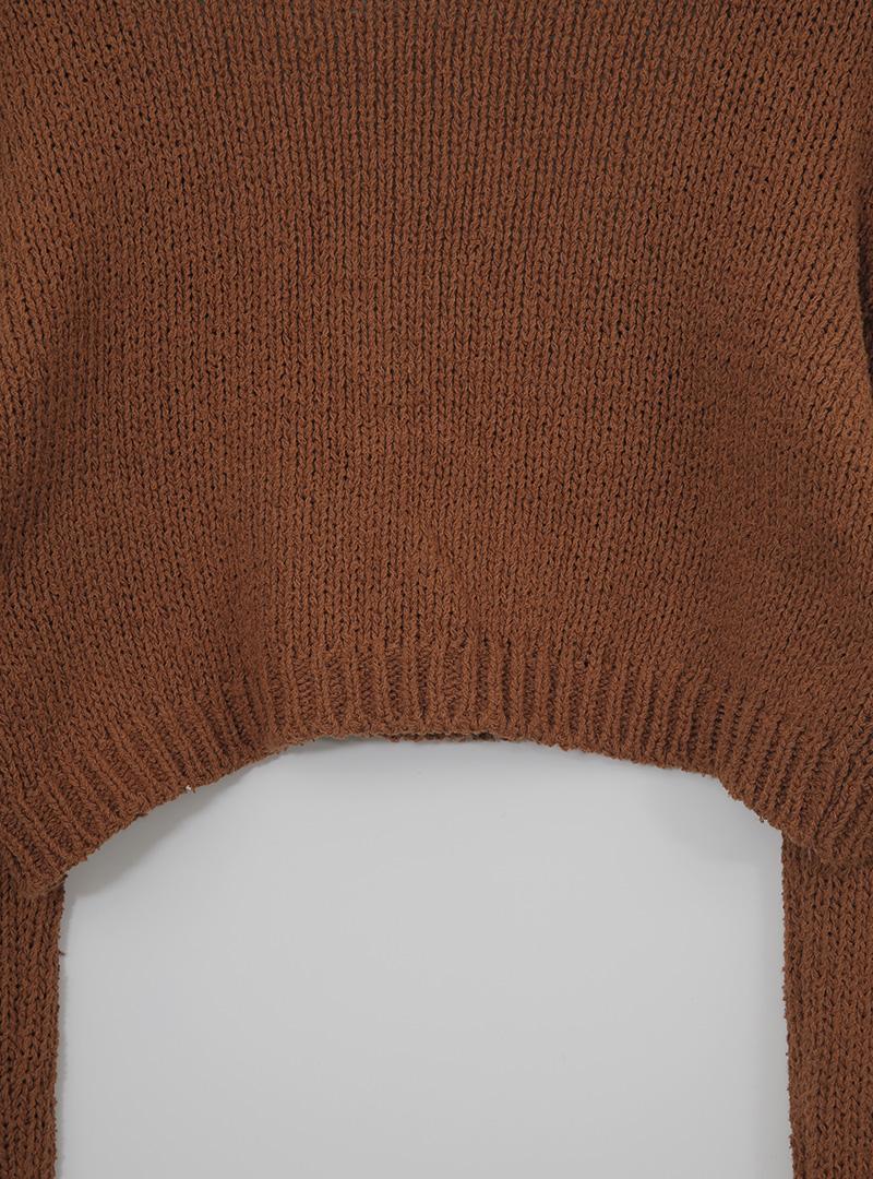 簡約款短版針織外套背心套裝