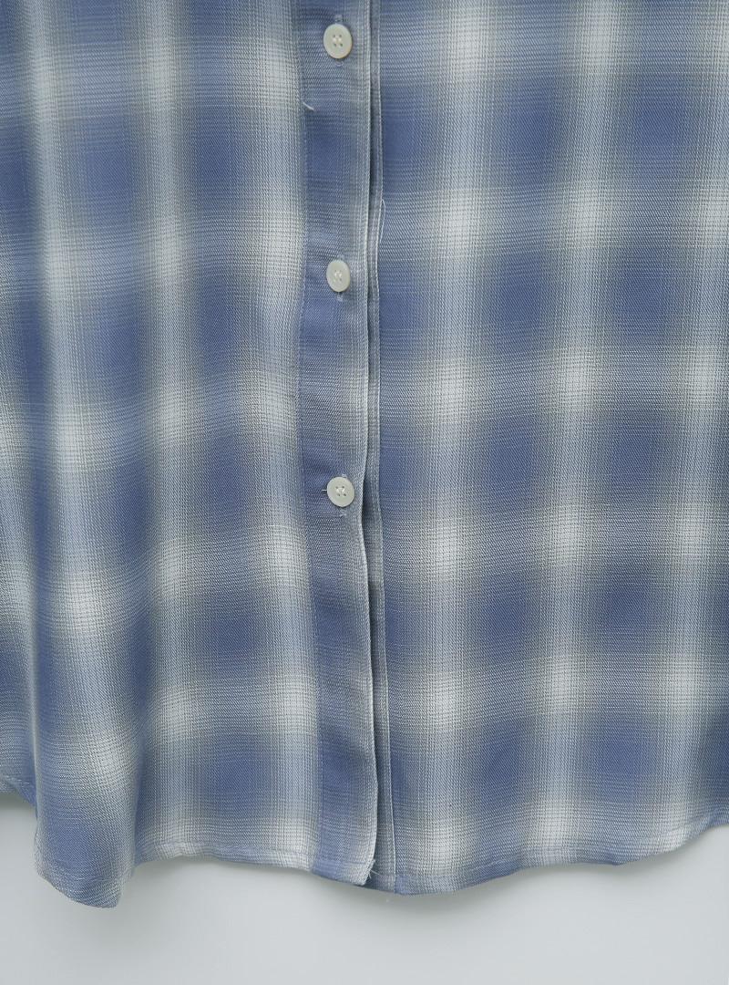 블러체크퀄 루즈웨어러블셔츠