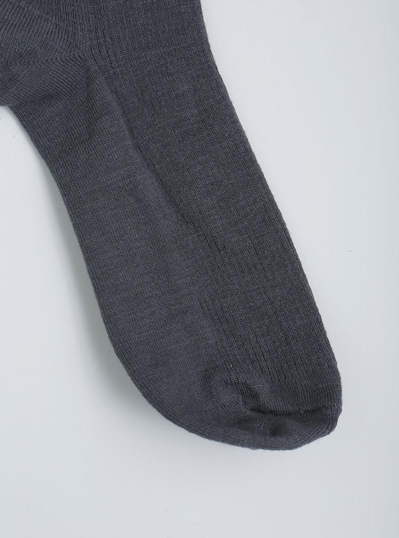 舒柔彈力純色羅紋中筒襪