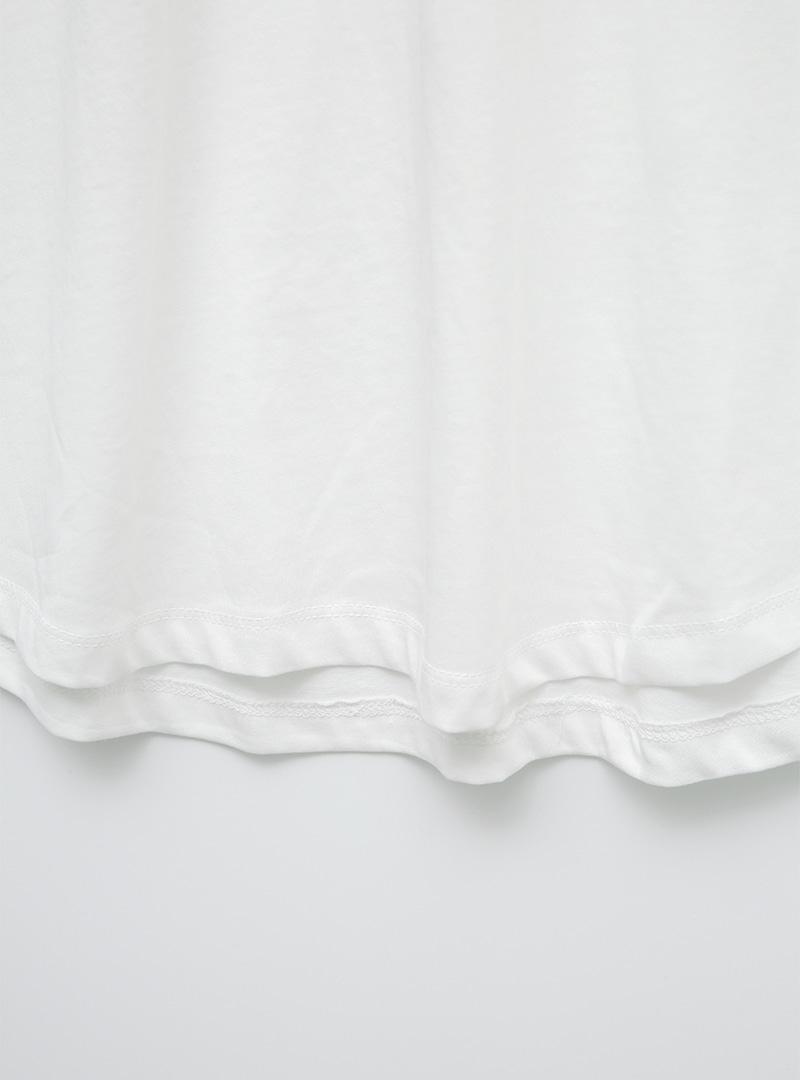 拉克蘭袖印字寬鬆長版T恤