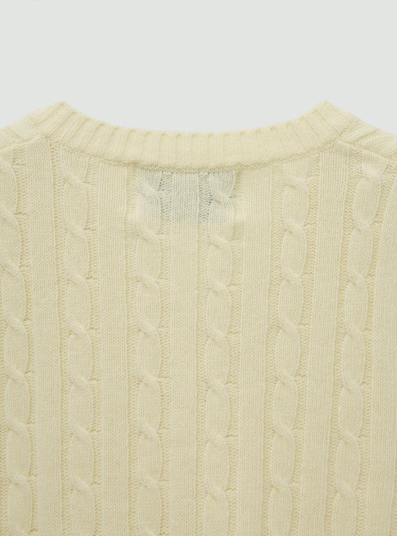 輕甜麻花紋短版針織背心