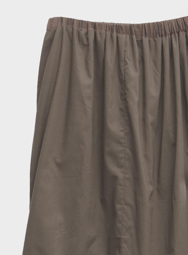 透膚直條紋開衩襬抽繩長裙
